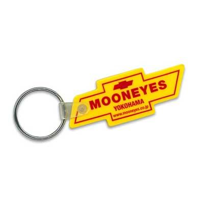 Mooneyes(ムーンアイズ)ラバーキーホルダー ボウタイ シボレーロゴ型 イエロー