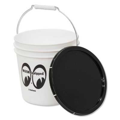 Mooneyes(ムーンアイズ)蓋付きバケツ 2ガロン ホワイト MOON Equipped