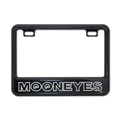 Mooneyes(ムーンアイズ)ライセンスフレーム,ナンバー枠,小型バイク用(50cc〜125cc),MOONEYES
