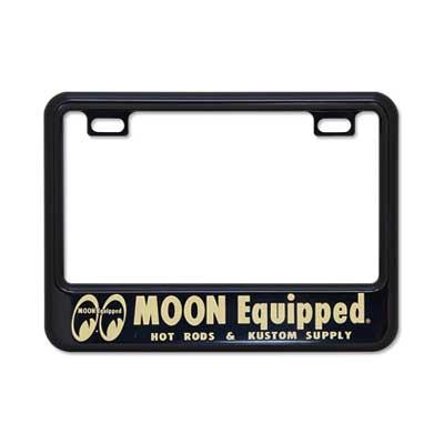 Mooneyes(ムーンアイズ)ライセンスフレーム,ナンバー枠,小型バイク用(50cc〜125cc),MOON Equipped
