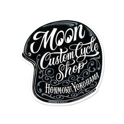 Mooneyes(ムーンアイズ)MOON Custom Cycle Shop ヘルメット ステッカー