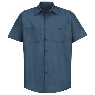【取寄限定カラー】REDKAP(レッドキャップ)インダストリアルワークシャツ(半袖) ダークブルー