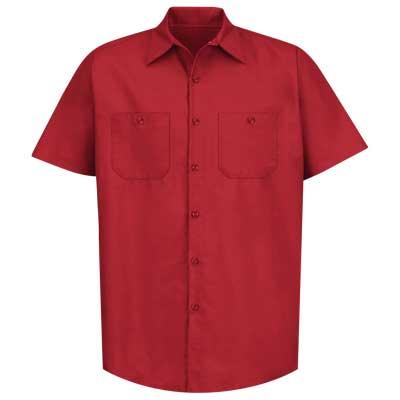 【取寄限定カラー】REDKAP(レッドキャップ)インダストリアルワークシャツ(半袖) レッド