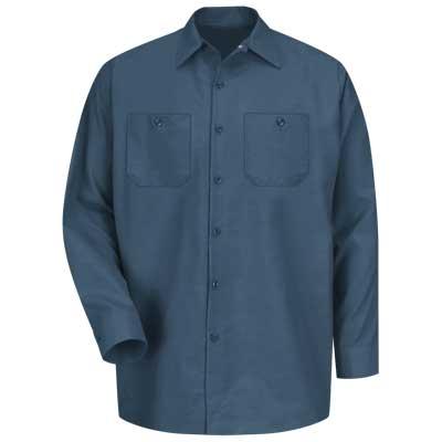 【取寄限定カラー】REDKAP(レッドキャップ)インダストリアルワークシャツ(長袖) ダークブルー