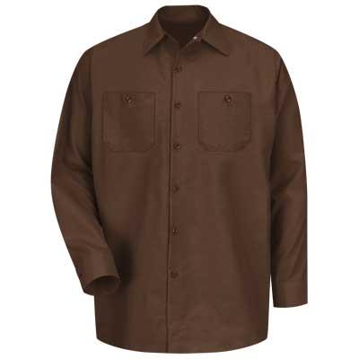 【取寄限定カラー】REDKAP(レッドキャップ)インダストリアルワークシャツ(長袖) チョコレートブラウン